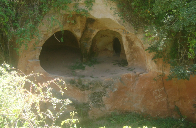 Partial view of Batena Cave