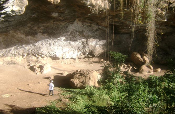 Partial view of Mochena Borago Cave