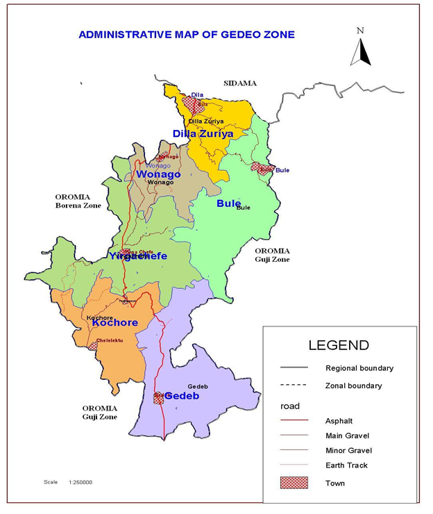 Administrative Map of Gedeo