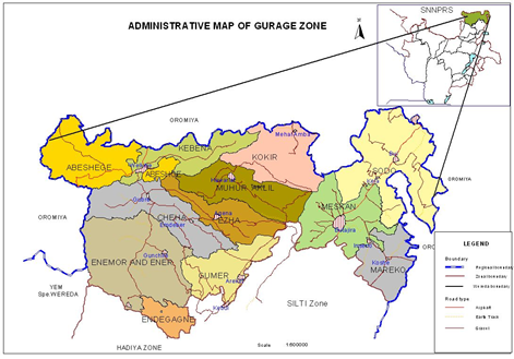 Administrative Map of Gurage Zone