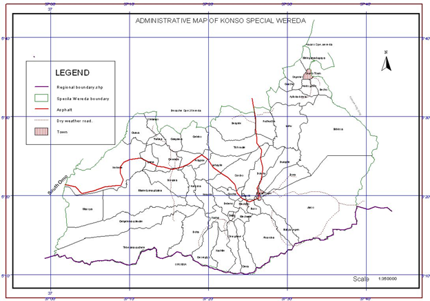 Administrative Map of konso