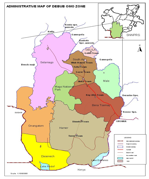 Administrative Map of South Omo