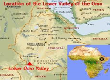 Location of Lower Omo Valley