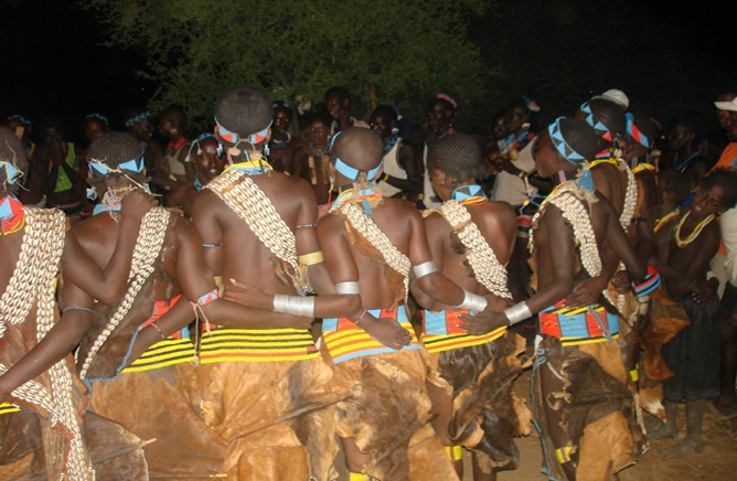 Girls in Ivangadi Dancing