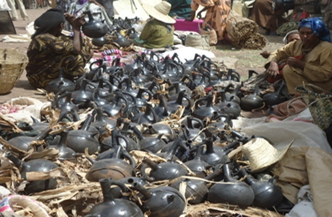 Handicrafts work products at Kibet (in Silte) market place