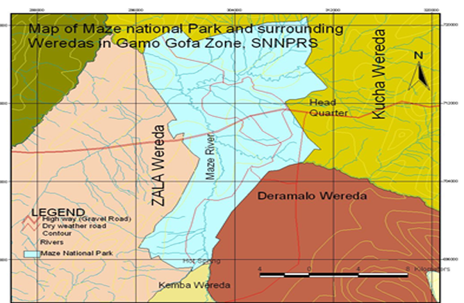 Map of Maze National Park