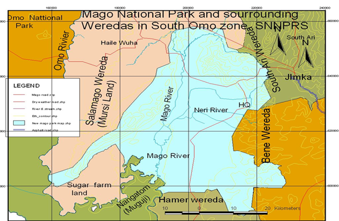 Map of Mago National Park